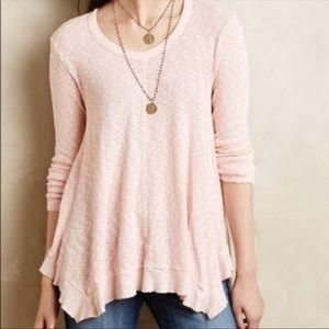 Anthropologie Left of Center Pink Long Sleeve